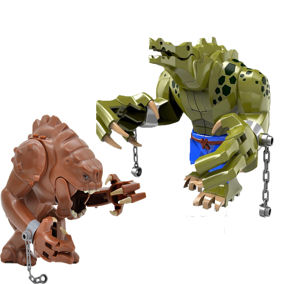 1Pc Rancor Blocks Compatible With Legoinglys Wild Animal Figure Set Building Blocks Bricks DIY Educational Toys For Children