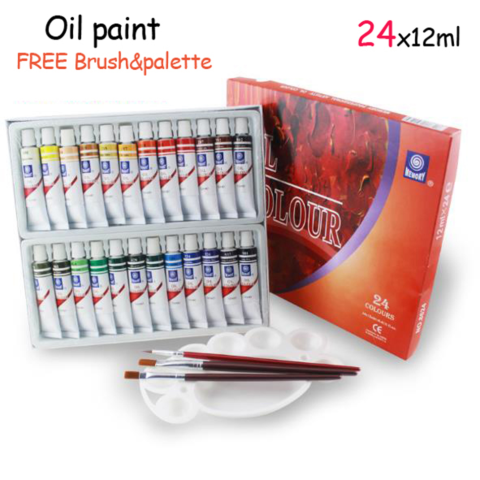 24 color set paint new brand oil colors paint colors painting supplies oil paint for child Oil based exterior paint brands