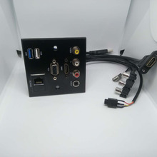 Liga de alumínio painel de tomada do cabo de extensão de VÍDEO L R ÁUDIO HDMI VGA USB placa de REDE patch Sem solda conector