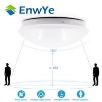 EnwYe Radar Human Induction LED Ceiling Lamp Light Downlight 12W 5730SMD 220V Corridor Stairs Garage Balcony