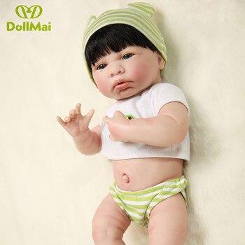 "NPKCOLLECTION brand bebes reborn girl doll reborn 14"" Full silicone vinyl body children play house toys bebes gift boneca reborn"