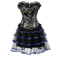 Vintage corsetto biancheria Sexy halloween costume cosplay vestito tutu skirt petticoat showgirl vestito da ballo wasit trainer bustier