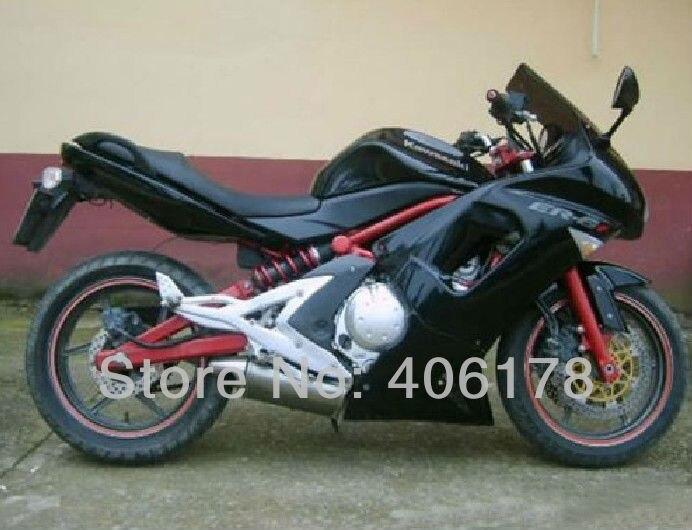 Hot Sales,06 07 08 06-08 fairing kit For Kawasaki ER-6F 2006-2008 Full Black Ninja 650 Motorcycle Bodyworks Fairings