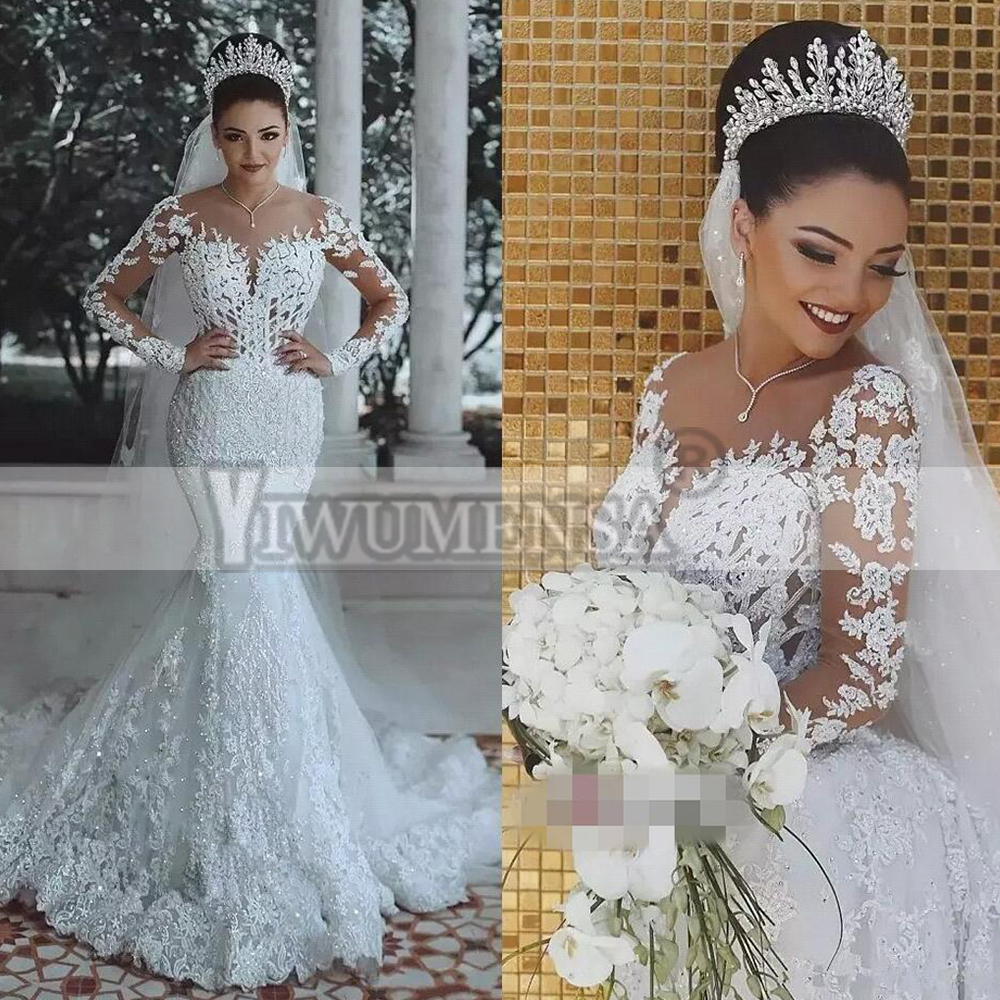 Vestido De Novia Sirena Robe De mariée De luxe Boho grande taille robes De mariée 2019 sirène robes De mariée Robe De Mariee WD3088