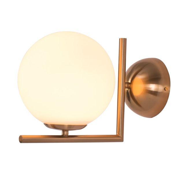 Modern Wall Lamp Glass Sconce Luminaire Ball Light Gold Chrome Color  Dia.30cm Glass Bedroom