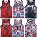 Homens Moda Verão Tanque Top Chicaga RuiYi jordan Jordan 23 Rose Floral Folha de Plantas Daninhas pirex 32 impressão colete colete de fitness
