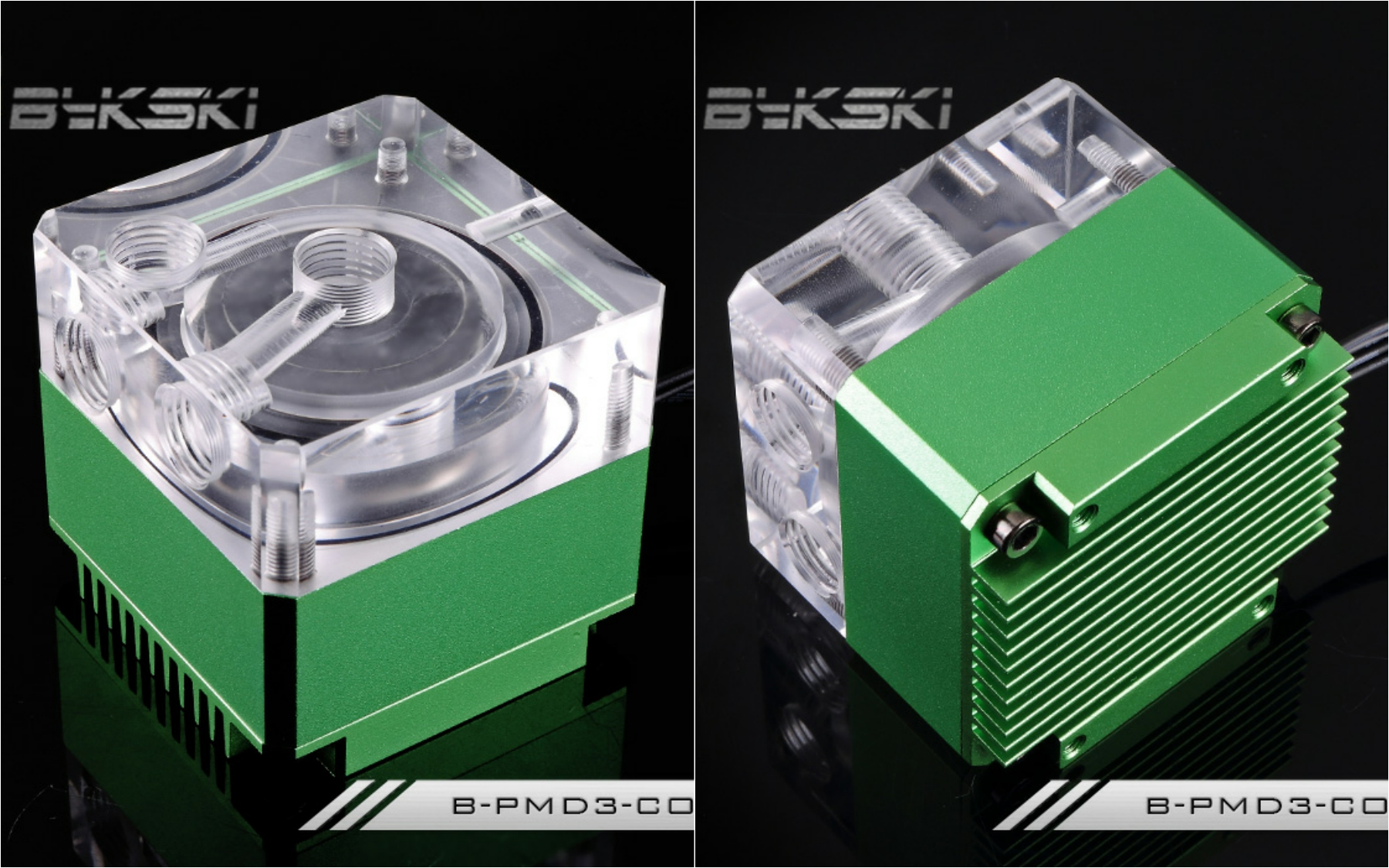 Bykski B-PMD3-COV Water Cooling Pump with Heatsink 500L DDC Green bykski b pump pav water cooling pump with heatsink 300l