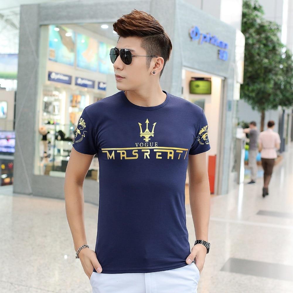 Mens Tops Tees 2016 Summer New Cotton O Neck Short Sleeve Casual T Shirt homme Men Junior Fashion Trends Fitness Print Tshirt 6