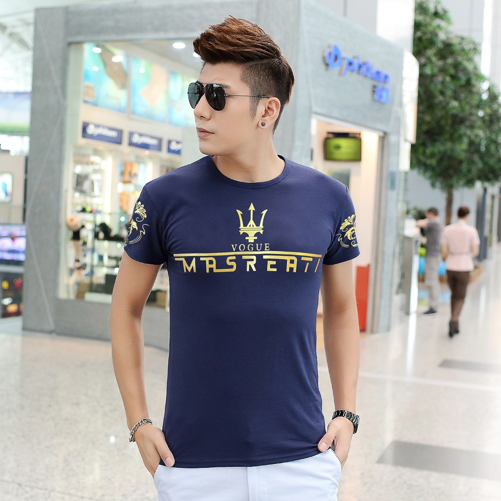 Mens Tops Tees 2016 Summer New Cotton O Neck Short Sleeve Casual T Shirt homme Men Junior Fashion Trends Fitness Print Tshirt 2