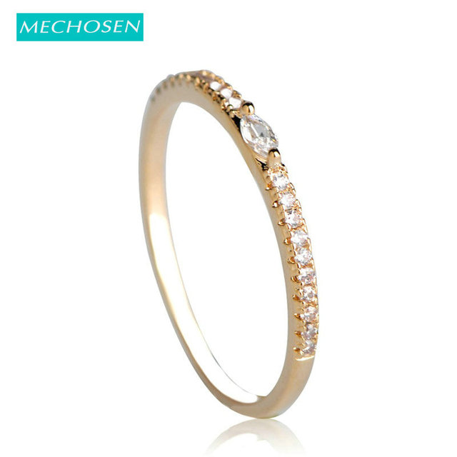 MECHOSEN Couple Zircon Thin Rings For Women Men Wedding Bridal Prong Setting  Crystals Anel Micro Pave High Quality Noble Anneaux 3acefff0d5f9