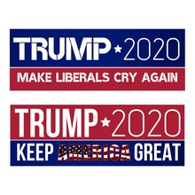 10 Pcs Donald Trump Voor President 2020 Bumper Auto Stickers Houden Maken Amerika Grote Decals Auto Motorfiets Auto Styling Stickers(China)
