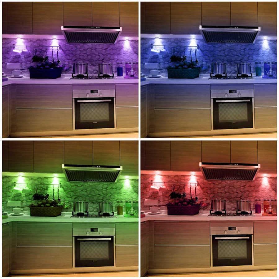 Bezprzewodowe krążki świetlne LED RGB 12 kolorów możliwość przyciemniania czujnika dotykowego światła podszawkowe LED do zamykania szafy schody korytarz lampka nocna