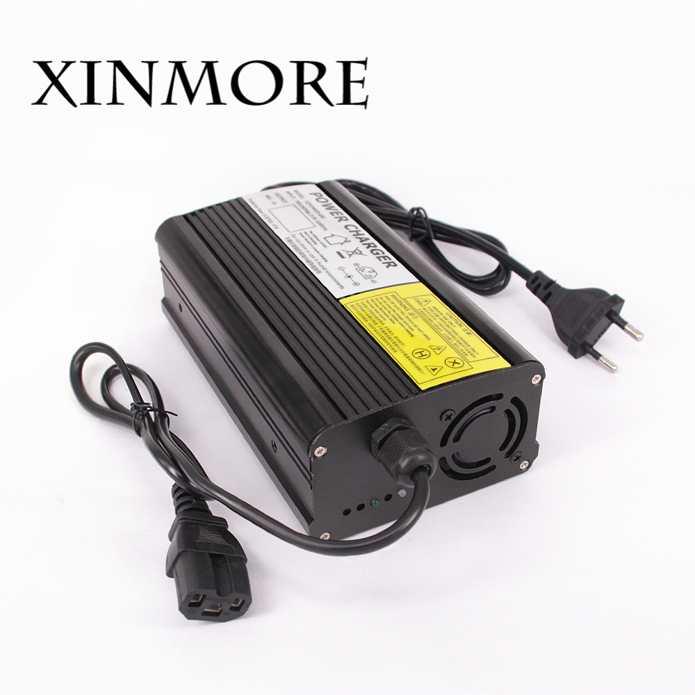 XINMORE 58.4V Power Supply 5A 4A 3A Lifepo4 lithium Battery Charger For 48V (51.2V) Electric Bike Scooters E-bike Electric Tool