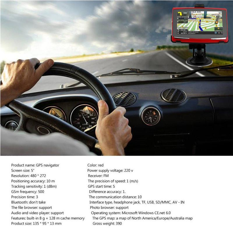 Image 2 - Universal Portable 5 inch Car GPS Navigation Sat Nav 8G CPU800M Wince6.0+FM Transmitter+Multi languages Car Compass-in Vehicle GPS from Automobiles & Motorcycles