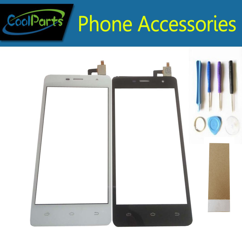1PC/Lot High Quality For Micromax Q351 Touch Screen Digitizer Touch Panel Lens Glass With Tool&Tape Black White Color