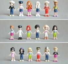 15pcs/lot Girls Figures assemble capsule /Kids Toys DIY Action building bricks toys minifigures blocks ,free shipping