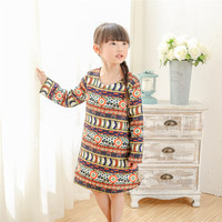 1 10Y Autumn Winter 2017 Casual Girl Dress Harajuku Children Clothing Bohemian Infantil Kids Clothes Toddler