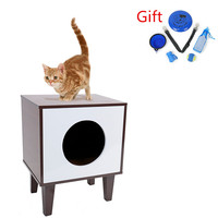 RU Domestic Delivery Multifunctional Cat Furniture Pet Chair Wood Luxury Sisal Scratching Post Cat Tree Modern Cat Furniture