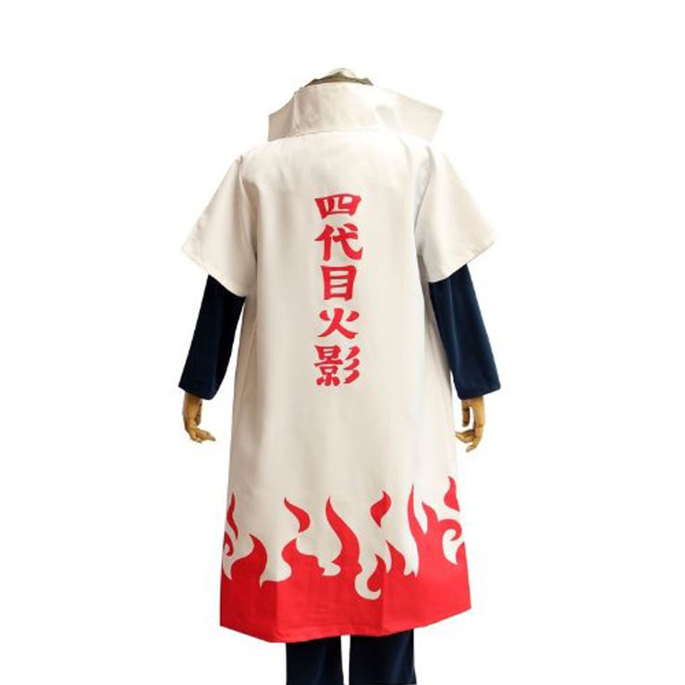 Hot Anime Costume Naruto Yondaime Fourth Hokage Namikaze Minato Cosplay Costumes Uniform / Cloak Kakashi Teacher Play Hot Sale