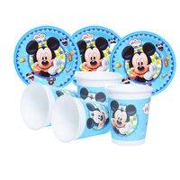 Rifornimenti del partito 48 pz Mickey Mouse festa A Tema per bambini festa di compleanno set da tavola, 24 pz piatti piatti e 24 pz tazze bicchieri