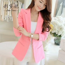 2016 Summer Business Suit Woman Casual Slim Suit Blazer Jacket Coat Long Sleeve Sprin New Office Outwear Plus Size Office Ladies