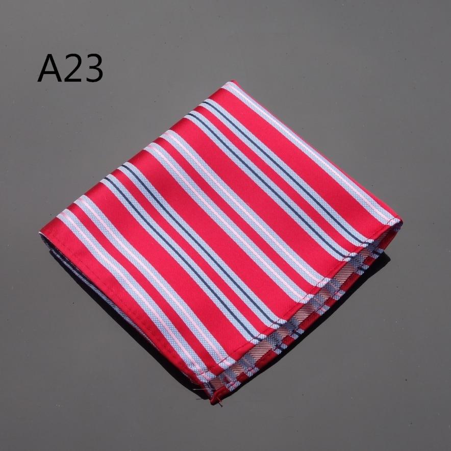 Ikepeibao Handkerchief Striped Red Hankies Men's Jacquard Woven Pocket Square