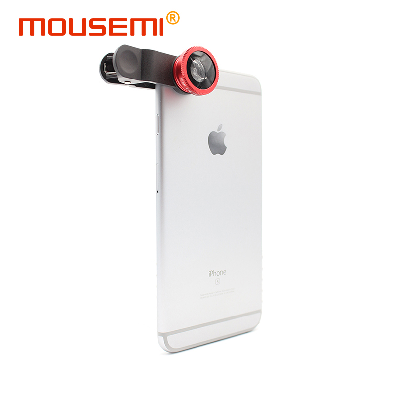 3 in 1 Universal Clip Camera Mobile Phone Lens Fisheye Macro Wide-Angle Lenses for iPhone 5 6 fish eye zoom lens cell smartphone