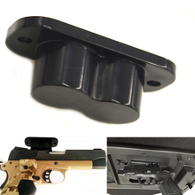 Dold magnetisk vapenhållare Holster vapenmagnet Betyg för bil under bordet Sängsidan Pistolmagnet Hängarehängare Jakt