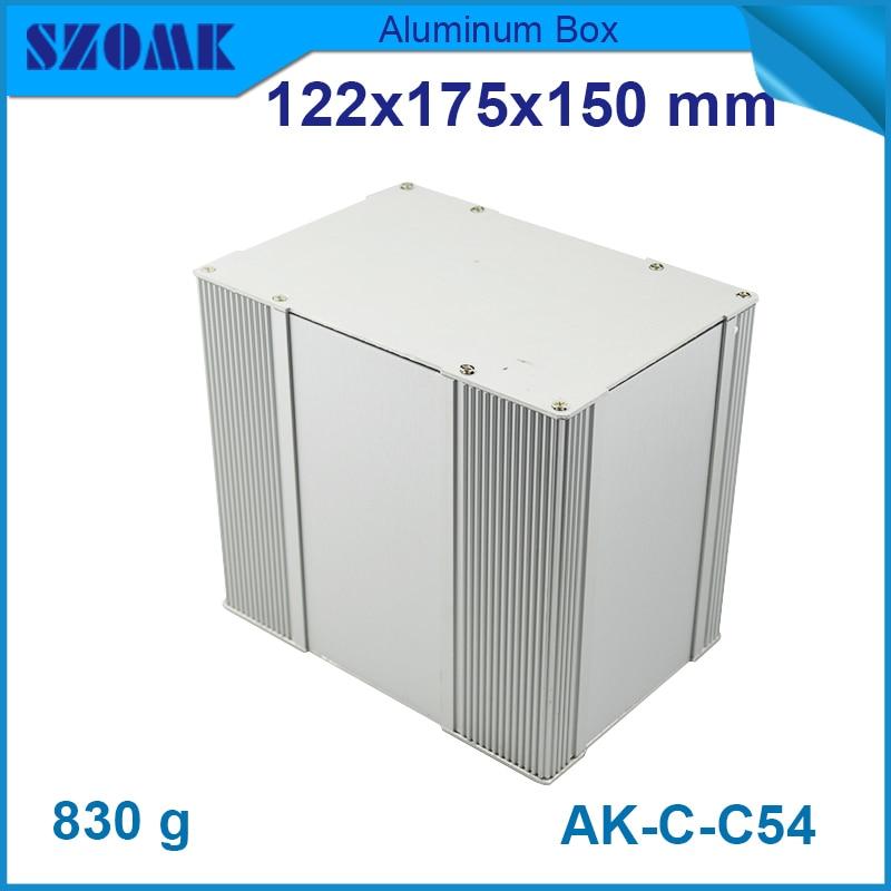 4 pcs/lot  SZOMK customized extrusion aluminum material connecting aluminium pcb box diy electronic box 122(H)x175(W)x150(L) mm e cap aluminum 16v 22 2200uf electrolytic capacitors pack for diy project white 9 x 10 pcs