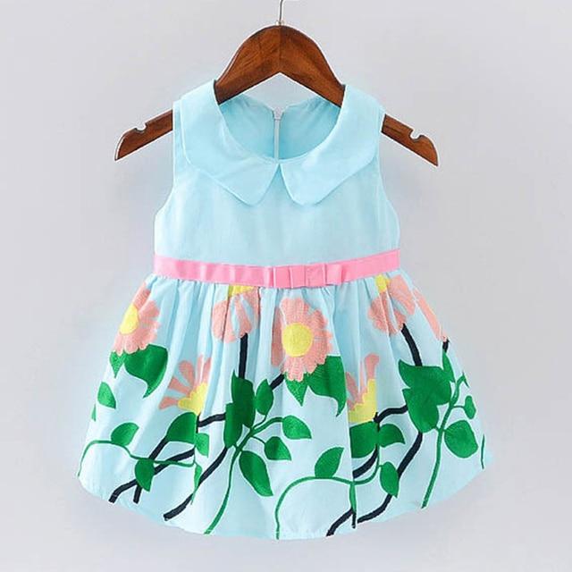 be4ff6b3e BibiCola Print Newborn Princess Dresses Baby Girls A Line Lovely ...