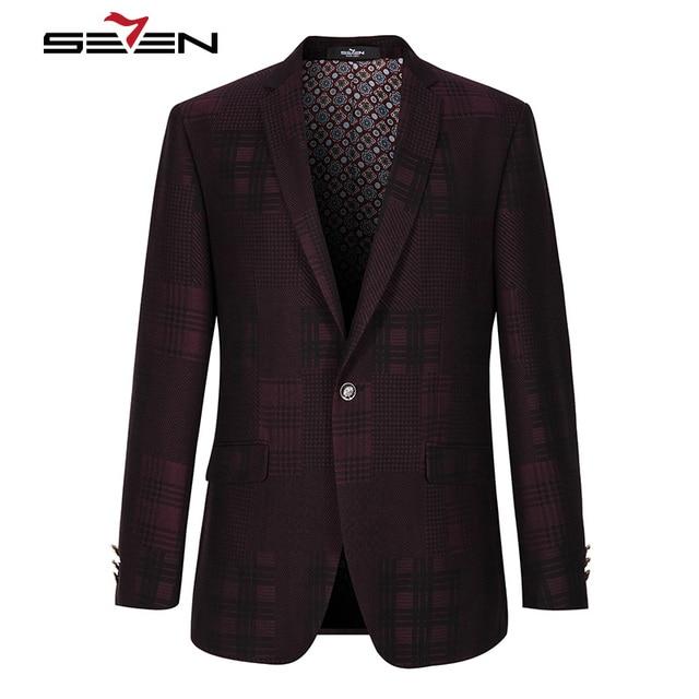 Seven7 Masculin Marca Blazer Slim Fit Del Estilo de Inglaterra Diseños Esmoquin Hombres Traje Chaqueta Masculina Masculina Ocasional Blaser 2017 111C10020