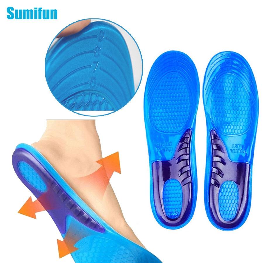 1 pair للجنسين نعل تقويم العظام قوس الدعم حذاء رياضة سادة رياضة الجري جل النعال قدم الرعاية أداة c531