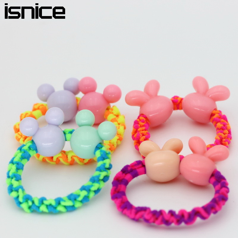 Girls' Clothing 1 Pcs Children Headdress Pink Double Bowknot Hair Ropes Baby Cute Elastic Rubber Bands Princess Ornaments Girls Hair Accessories Professional Design Hair Accessories