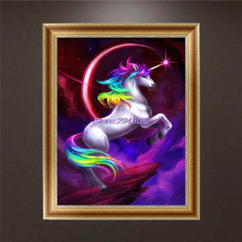 New Arrival DIY 5D Horse Diamond Embroidery Painting Cross Stitch Art Craft Home Room Decor APR18_40