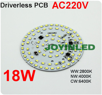 Free Shipping AC220V LED PCB Chip 18W bulb lamp integrated Driver 2835 led Ceiling light PCB