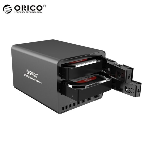 "ORICO 9528RU3 Super Speed Aluminum 2-Bay 3.5"" SATA To USB 3.0 HDD Enclosure RAID External Hard Drive For Notebook Desktop PC"