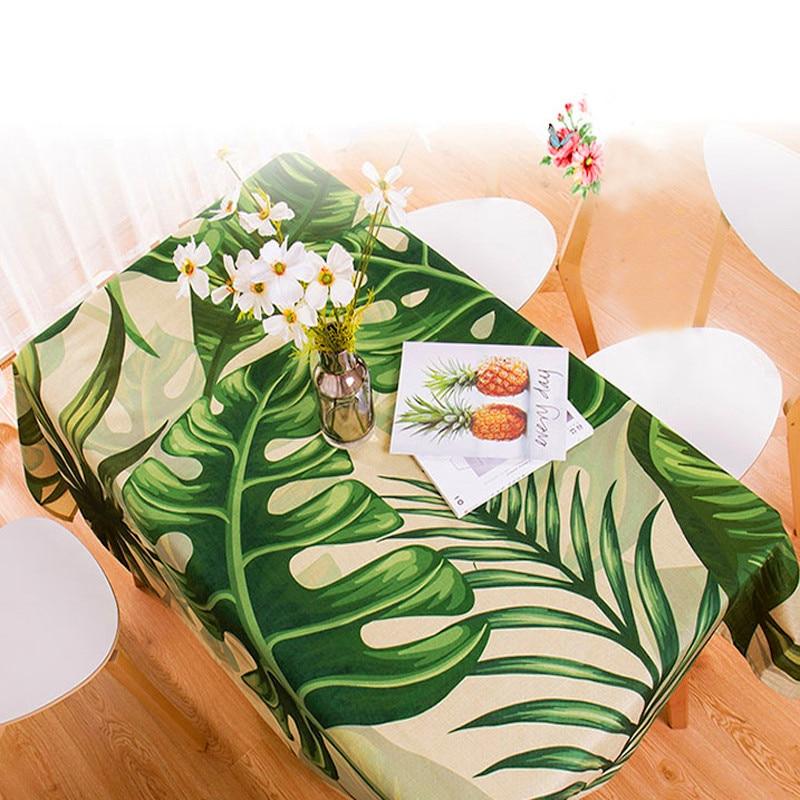 Водонепроницаемая прямоугольная скатерть в пасторальном стиле с тропическими растениями, скатерть для домашнего декора, элегантная скатерть elegant table covers table covertable cloth rectangular   АлиЭкспресс - Тропический принт