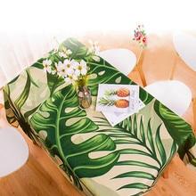 Decor Tablecloth Rectangular Plants