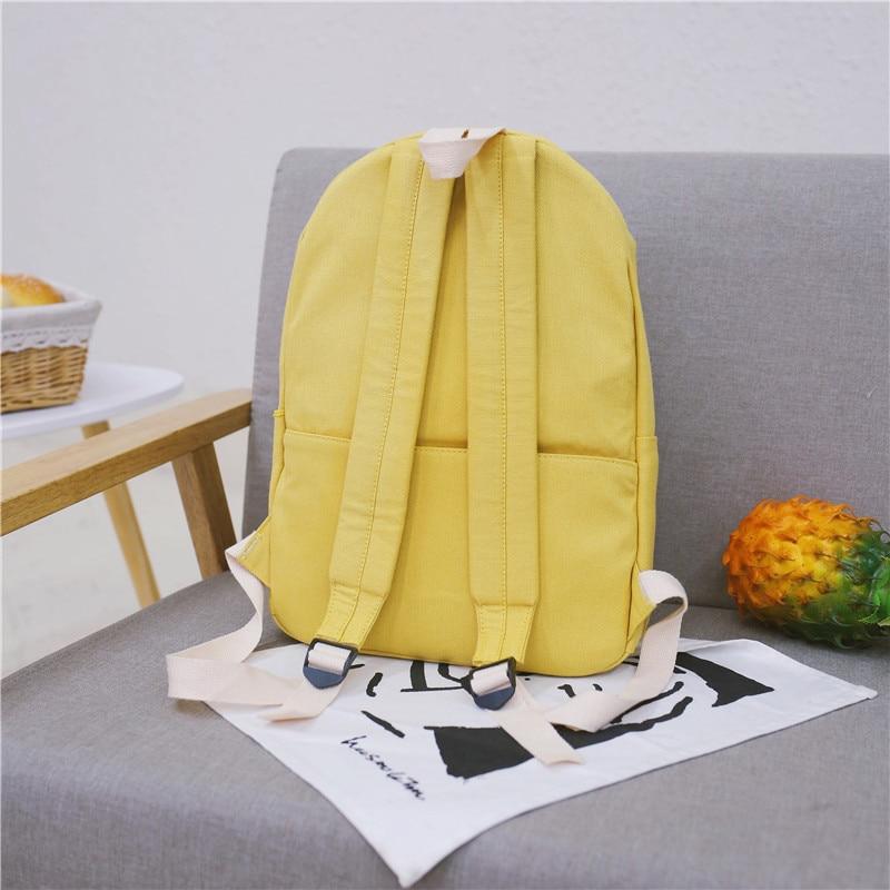 HTB1DvWpXOHrK1Rjy0Flq6AsaFXa4 2019 Women Canvas Backpacks Ladies Shoulder School Bag Backpack Rucksack for Girls Travel Fashion Bag Bolsas Mochilas Sac A Dos