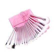 22pcs/bag profesional cosmetic brush tools cleaner beauty kit blending oval set powder trucco eyeshadow kabuki sgm naked sets