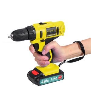 Image 5 - Destornillador eléctrico inalámbrico de 48V f, Taladro Inalámbrico, batería de ion de litio, taladro recargable de mano, controlador de potencia de impacto, iluminación LED