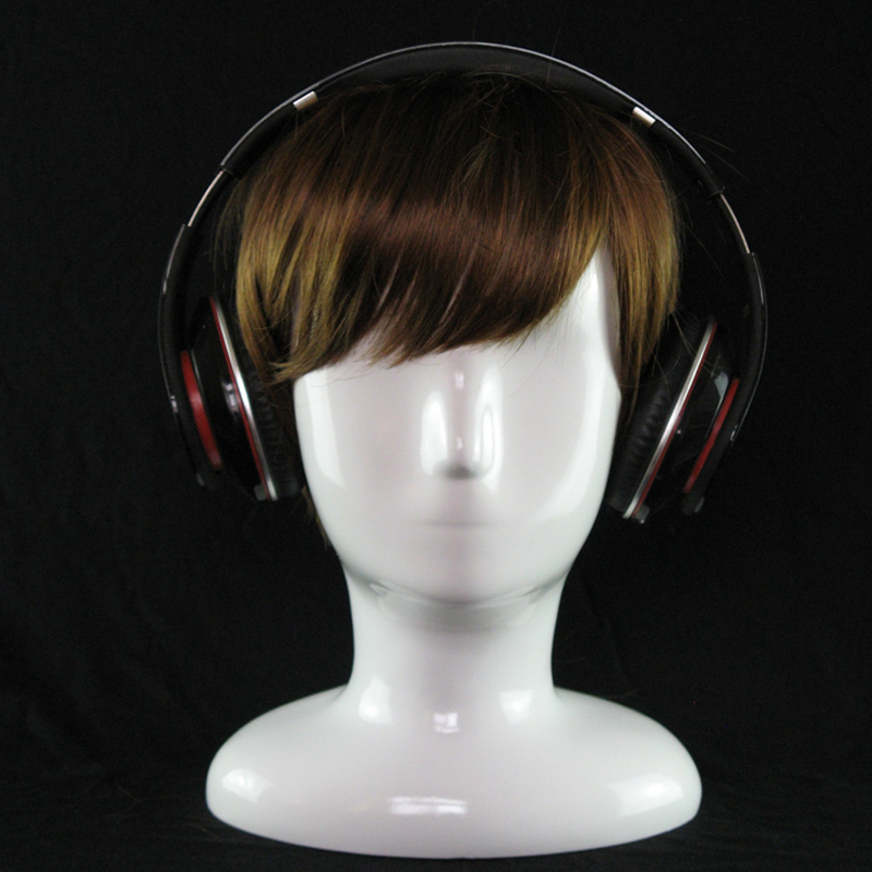 Abstract White Gloss Mannequin Manikin Head Model Hat Glasses VR Display Mannequin Head Hat Wig Display Stand Rack (5)