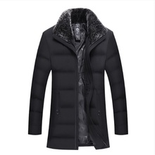 new Mens Winter Jacket Fur Collar New Design Mens Parkas Thick Warm Outwear Casual Jacket Free shipping Cotton Parkas Male Coat
