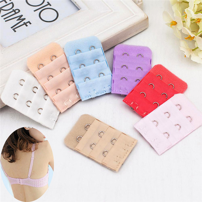 5pcs/set Bra Extender Clasp Strap Extension 3 Raws 2 Hooks Bra Set Women's Intimates Accessories Random Color
