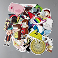 25 Pçs/lote Engraçado Anime Gravity Falls Etiqueta Para Bagagem Laptop Skate Motocicleta Decalque Crianças Brinquedo Do Carro Adesivo