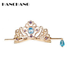 HANCHANG Women Headwear Accessories Boutique Hair Sticks Hairpins Alloy Crystal Hair Holder Hair Clips Head Jewelry hair bows(China)