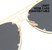 2018 Fashion Flat Aviation Sunglasses Women Mirror Sunglasses Vintage Lady Oversize Pilot Men Sun Glasses 62mm Size soleil