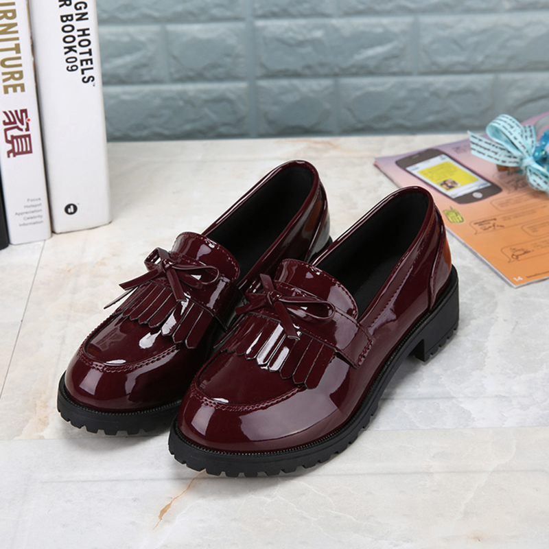 Lady Student Shoes College Girl Lolita Student Shoes JK Commuter Uniform Shoes PU Leather Shoes Low heels British Style