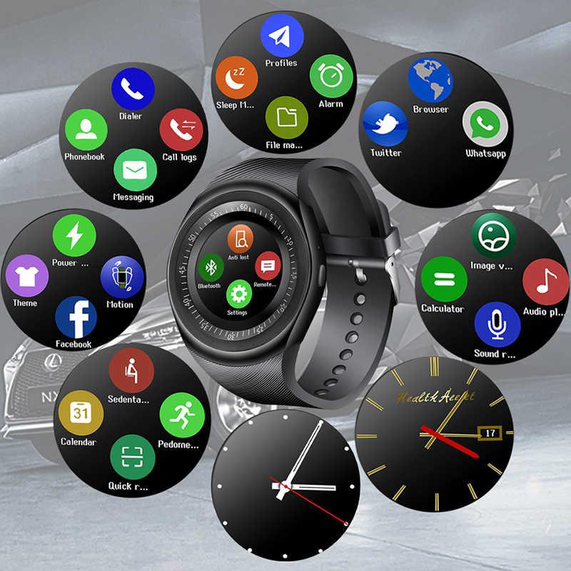 LIGE 2019 جديد ساعة ذكية الرجال LED اللون شاشة تعمل باللمس الرياضة عداد الخطى بلوتوث ساعة ذكية دعم SIM TF Relogio inteligente