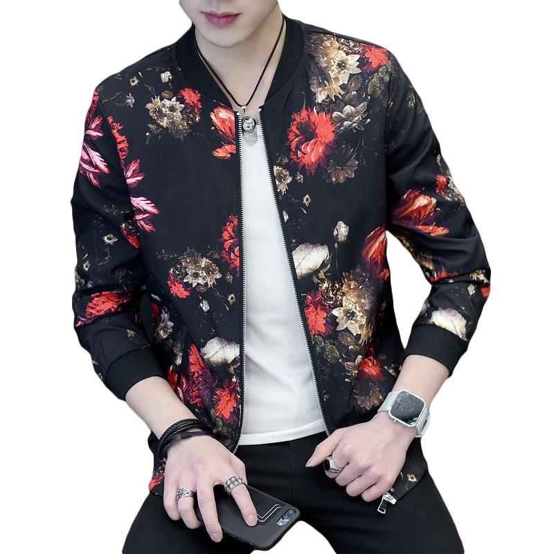 Aliexpress.com : Buy Flower Print Men Jacket Coat Man ...